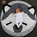 KAMIMI 2017 Nuevo Bebé Del Estilo Animal Recién Nacido Oso Patrón Encantador sleepping Bebé Mantas de algodón Bebé suave Alfombra de Juego
