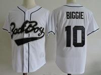 Bad Boy Jersey 10 Biggie Bad Boy High Quality Men Stitched White Black Movie Baseball Jersey