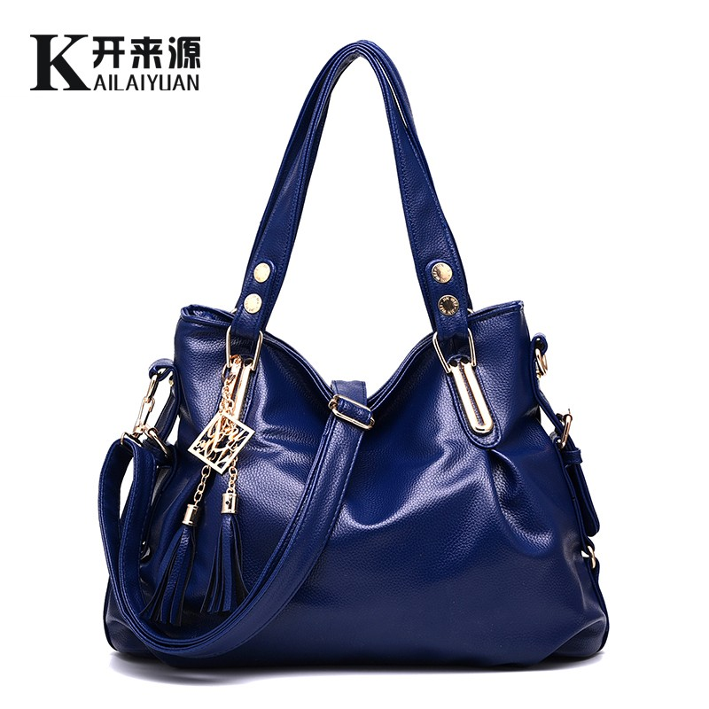 KLY 100% Genuine leather Women handbags 2018 New package classic casual fashion soft bag portable shoulder bag women Messenger 2018 new fashion women s genuine leather bag handbags classic brand design 100