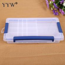 High Quality Plastic 24 Grids Organizer Storage Beads Box Jewelry Case Plastic Adjustable Tool Bins Container Display Holder