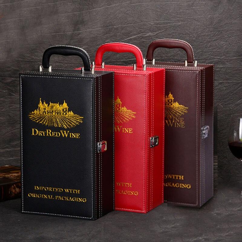 de alta calidad caja de vino tinto con doble caja de regalo vino tinto embalaje caja