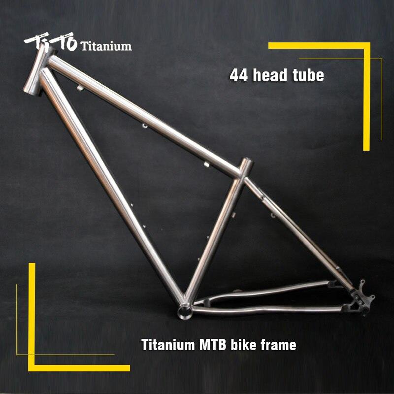 FREE SHIPPING TiTo titanium mountain bike MTB frame 650B 26 27 5 44 head tube