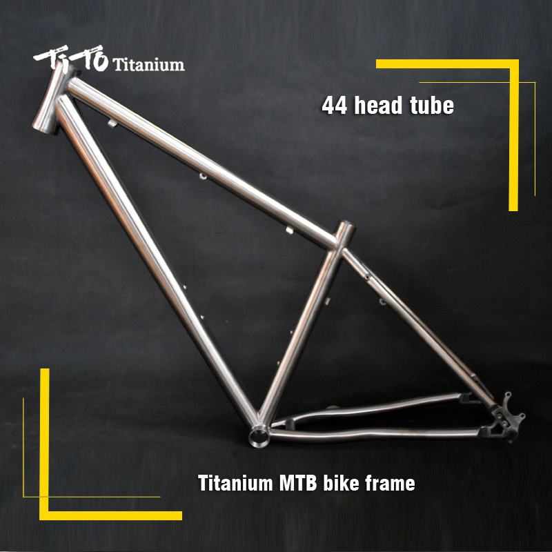FREE SHIPPING !!! TiTo titanium mountain bike MTB frame 650B 26`` 27.5`` 44 head tube bicycle free shipping tito titanium mountain bike mtb frame 26 27 5 29er simi circle a tail hook 34 head tube