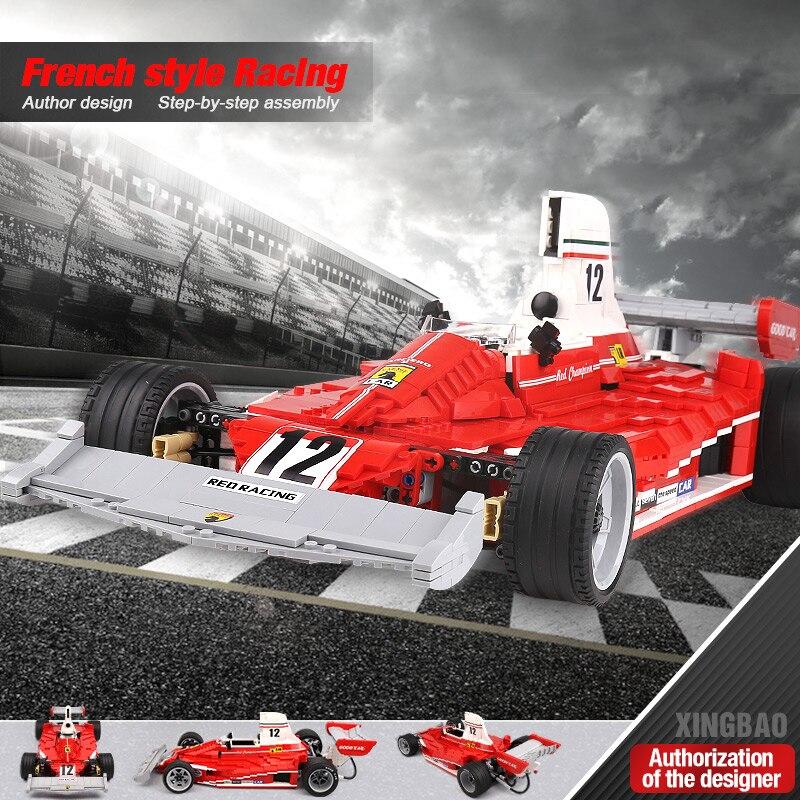 XINGBAO-03023-Genuine-The-Red-Power-Racing-Car-Set-Self-Locking-Building-Blocks-Bricks-Educational-Toy (1)