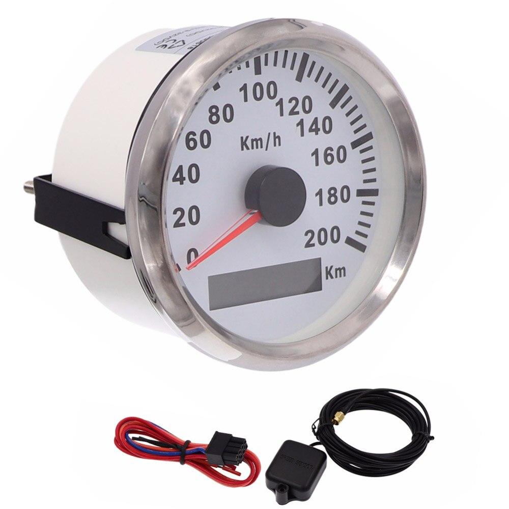 85mm Waterproof GPS Speedometer Gauge 200km h 120km h Speed Gauge for Marine Boat Car Motorcycle