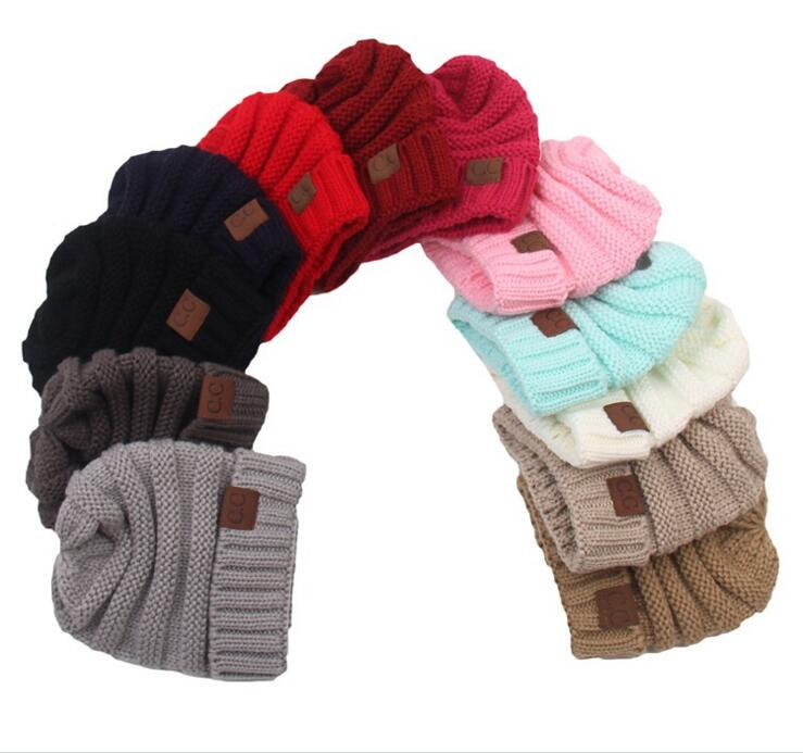 6158df85a1c3a9 Detail Feedback Questions about Hot sale Kids knitted Warm Cotton Beanie CC  Caps Children's Crown Hat Caps Christmas Gift 2017 Newest on Aliexpress.com  ...
