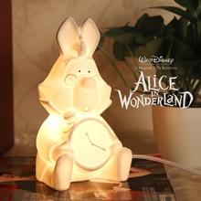 Новый Алиса в Стране Чудес Белый Кролик Лампа Детская Кровать Ночника Керамика Украшения Коллекции Идеально Подходят Подарки Bouns ЕС/США Plug