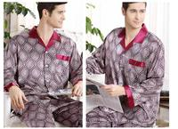 Wholesale Spring And Autumn Silk Pajamas Men S Long Sleeved Two Sets Of Thin 2 Pieces