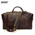 MAHEU Luxus Designer Natürliche Rindsleder Männer Reisetaschen Hand Gepäck Durable Männliche Große Kapazität Business Reise Tasche Super Qualität