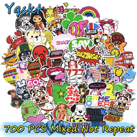 700 Pcs Mixed Stickers For Laptop Luggage Skateboard Bicycle Motorcycle Car Styling Home Decor Decal Graffiti