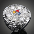 Micro Pave Cubic Zirconia 2008 Pittsburgh Steelers Replica Super Bowl Rings Men Pretty Sport Fans Fashion Jewelry Gift J02036