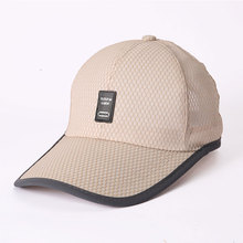 XCZJ Breathable Baseball Cap Cotton Embroidery Mens Summer Mesh Hats Sun Beach Hat Casual Adjustable Unisex Snapback Caps H074