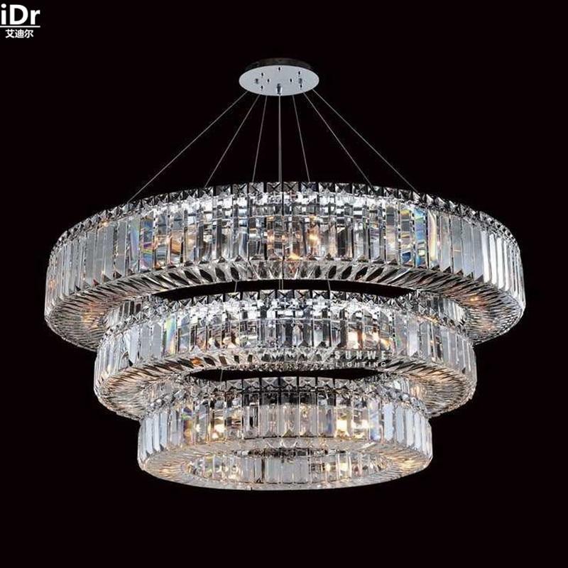 Gold Chandelier restaurant lights crystal lamps modern hotel bedroom - Indoor Lighting