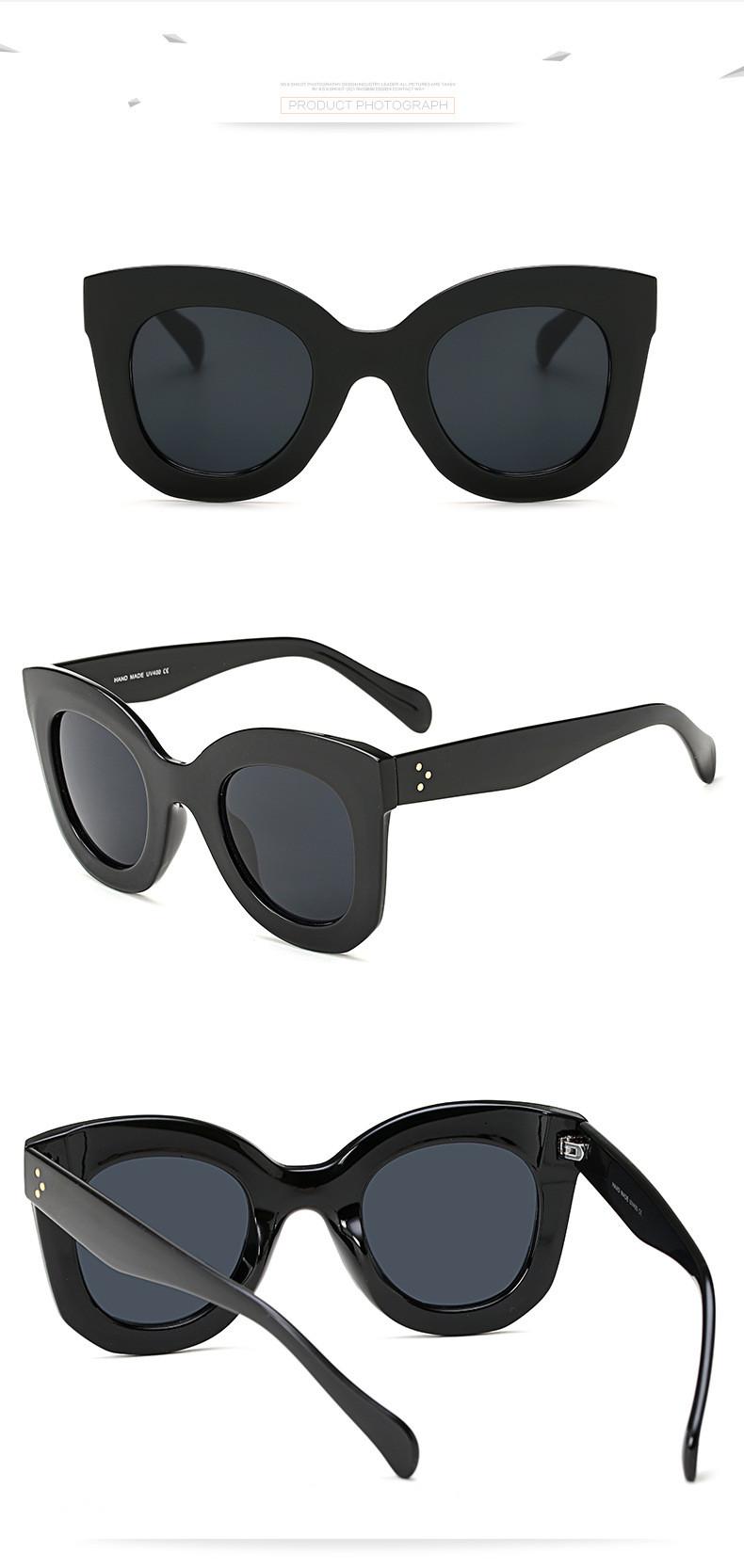 Luxury Vintage Cat Eye Sunglasses Women Brand Designer Female Sunglass Points Sun Glasses For Women Lady Sunglass Oculos De Sol (11)