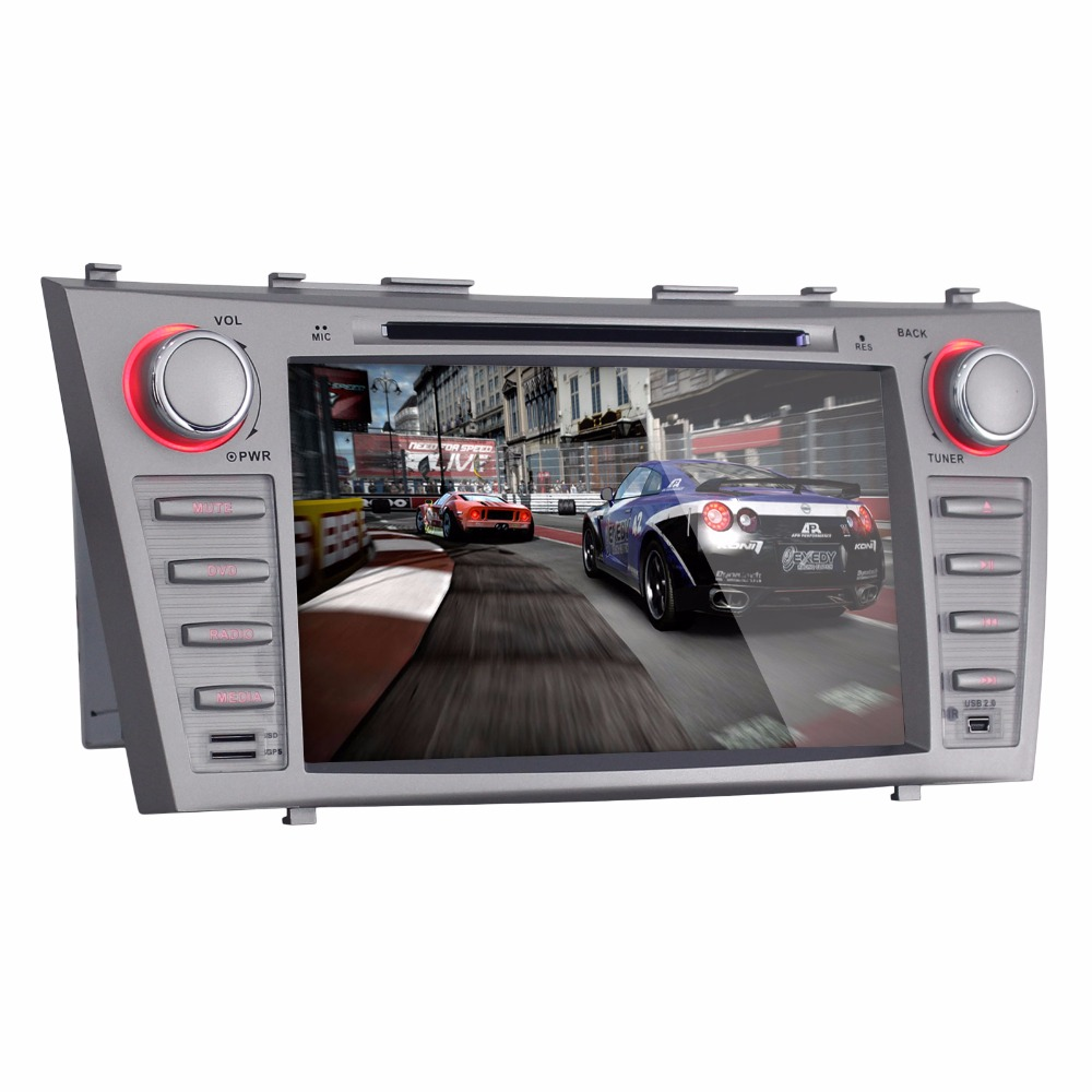 Beiinle Android 4.4.4  GPS Navigator DVD Radio  QUAD CORE 16G 2 Din Car 1024*600  for  Toyota Camry 2007-2011