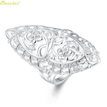 Diomedes Newest Classy Cute Filled Hollow Big Ring Ladies Finger Jewelry Gift 1PC