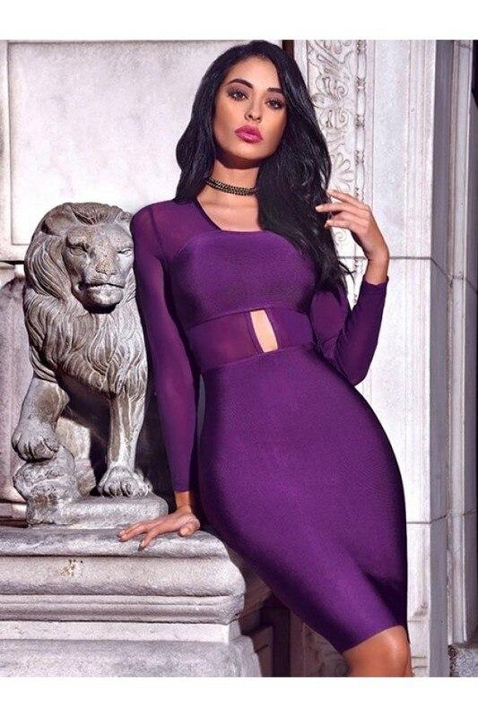 Noir Manches Violet De Sexy Soirée Évider Noir Party Dress Bandage rouge Longue pourpre Rayonne Rouge Maille OcqWqgFvA