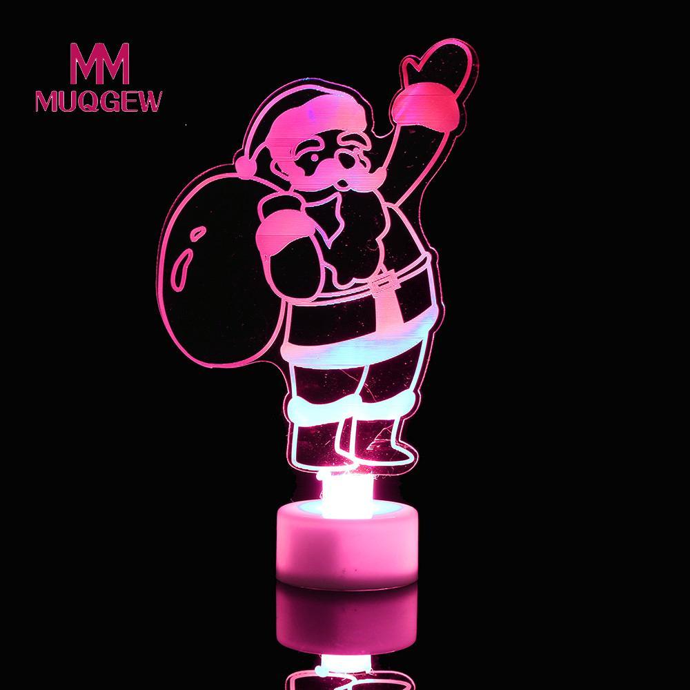 MUQGEW Brand Luminous Can Paste Toys,Christmas Toys, Led Light Decorative,Hot Colorful Santa Claus,kids Toys, Birthday Gift