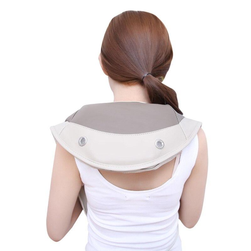 3d Kneading Shoulder Massage Device Cervical Vertebra Knocking Taping Massager Belt Infrared Heating Full Body Neck Therapy for nec k shoulder and neck massage cape cervical massage device neck