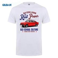 ebb873aff281a GILDAN 2018 Brand T Shirt Men Fashion Slim T-Shirts Vintage Czech Car 110R -