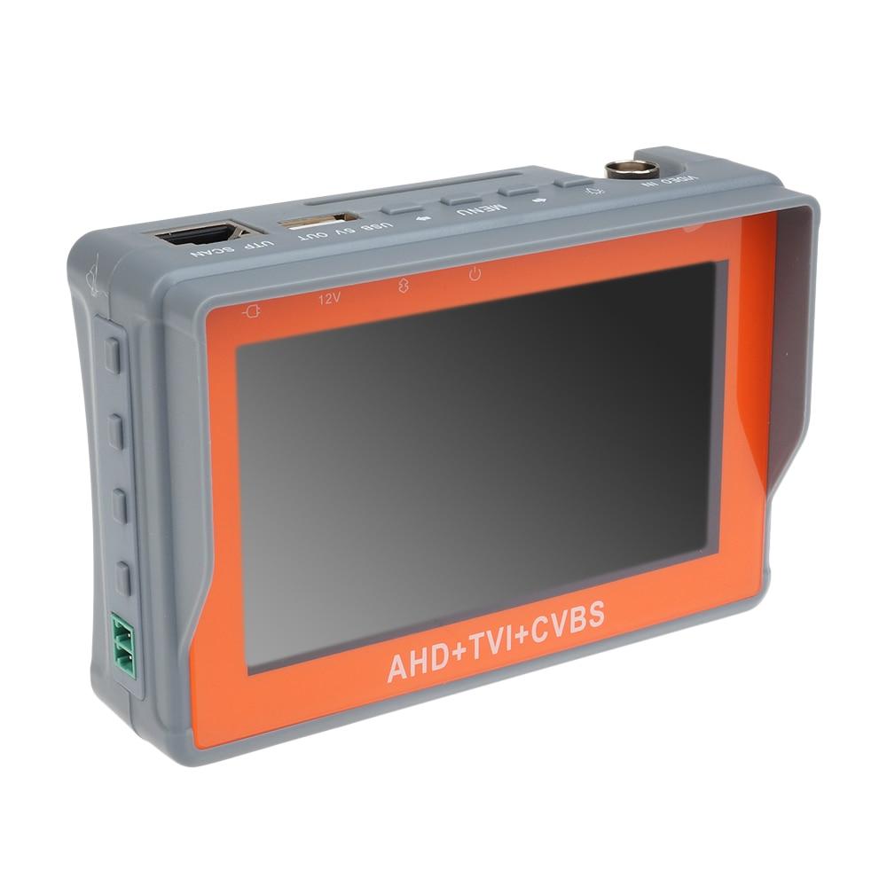 Portable Wrist 4.3 LCD HD-AHD/TVI+CVBS Analogy CCTV Camera Test Monitor Tester free shipping portable 3 5 lcd hd ahd cvi tvi sdi camera tester monitor cvbs test ptz control