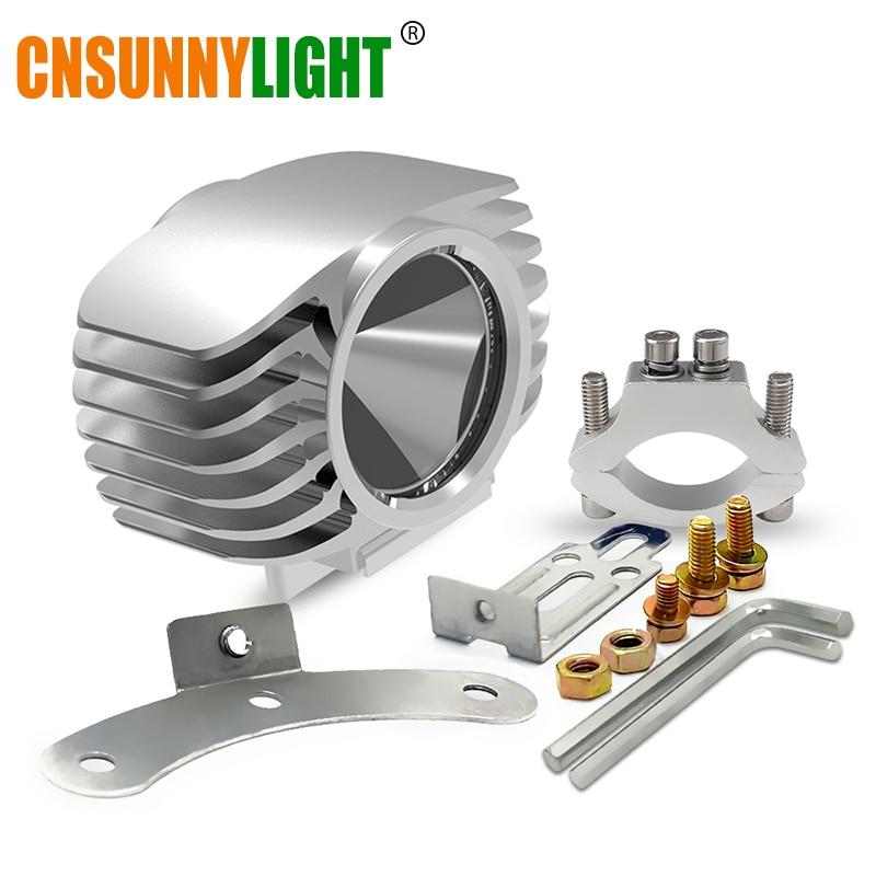 CNSUNNYLIGHT <font><b>LED</b></font> Motorcycle Headlight Fog DRL Spot Light 15W 10-80V 6000K White Super <font><b>Bright</b></font> Spotlight Foglamp Waterproof DIY