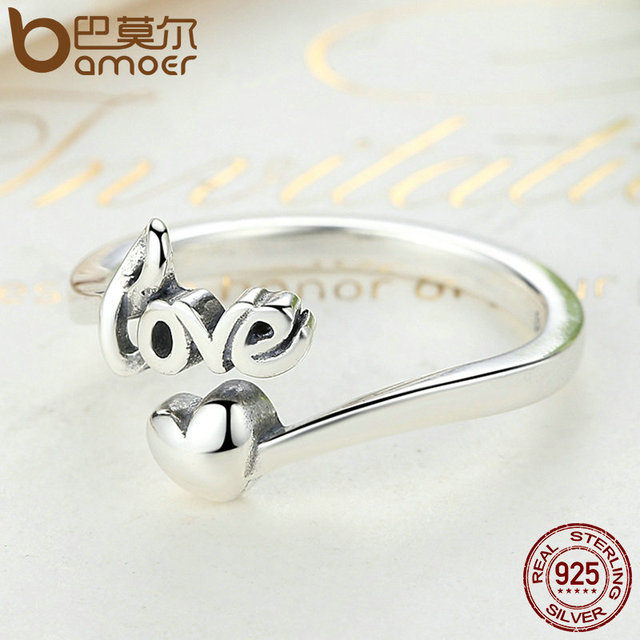 Sterling Silver I Love You Heart Ring