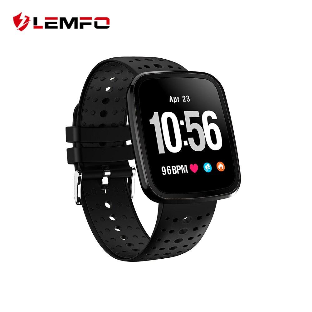 LEMFO Professionelle Sport Smart Uhr Gesunde Smart Band Blutdruck Und Herzfrequenz Monitor 1,3 zoll Bildschirm 15 Tage Standby