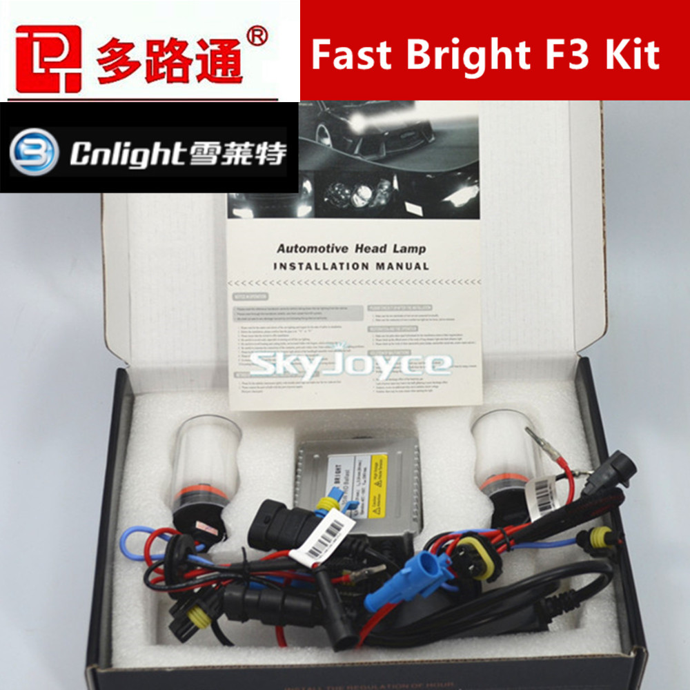 1 set 35W Fast Start HID XENON KIT with Cnlight HID XENON BULB H1 H3 H7 H8 H9 H10 H11 9005/HB3/9145 9006/HB5 880/881/H27
