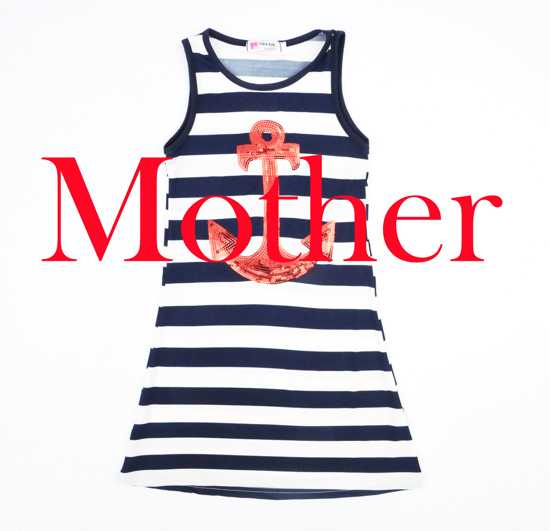 Matching outfits Mom And Mother daughter dresses Navy stripes anchor