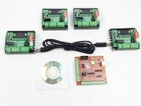 CNC Router mach3 USB 4 Axis Kit, 4pcs TB6560 1 Axis Driver Board + one mach3 4 Axis USB CNC Stepper Motor Controller card 100KHz