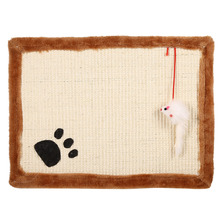 Funny Cat Scratch Board With Toy Cat Bed House Cushion Cats Scratcher Scratching Pad Post Interactive Toy For Cat Training