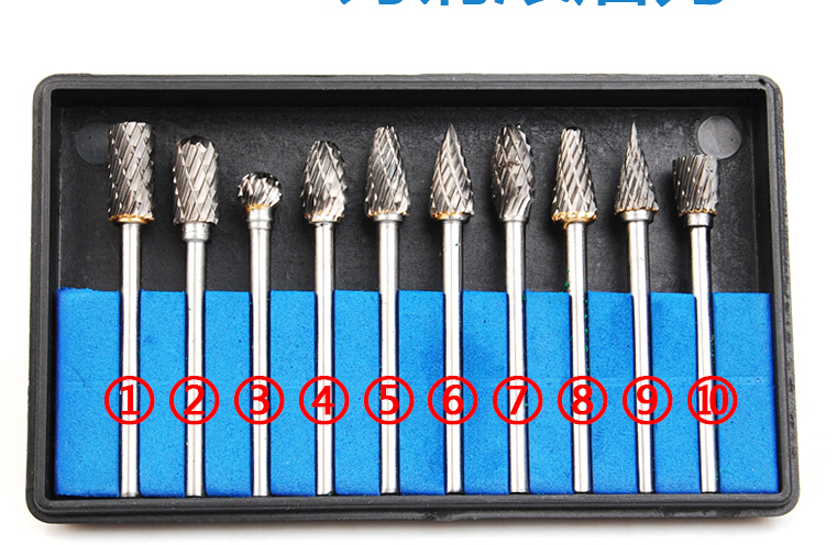 Free shipping High quality 10 pcs set 3mm tungsten carbide shaft for dremel rotary tools, grinding tools set