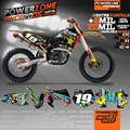 Custom Team Graphics & Backgrounds Decals 3M Customized Oneal Sticker Kits For KTM SX SXF 2003-2016 EXC 2004-2016 Free Shipping