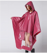 2015 Fashion EVA Polka Dots Raincoat Electric Bicycle RainSuit Women Winter Vinyl Cloak Female Outdoors Rain Ponchos Chubasquero