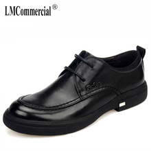 High Quality Genuine Leather casual shoes mens soft bottom summer business dress luxury men designer