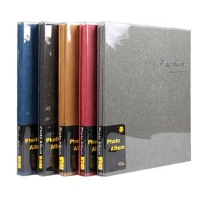 Image 2 - Retro 12 cal wysokiej jakości zamszowe album handmade DIY samoprzylepne, fotografia, księga, pary pamiątkowe zdjęcie ślubne kolekcja