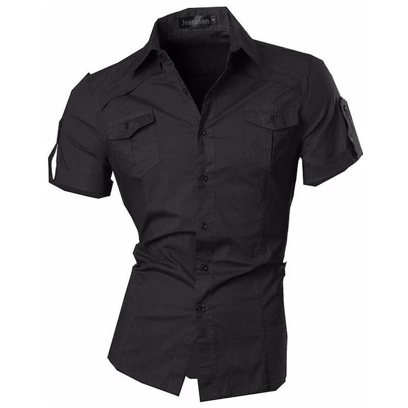 Sportrendy Mens Summer Fashion Men's Fashion Slim Art Printing Long Sleeves Button Down Dress Shirts Tops JZS055