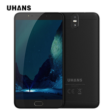 UHANS MAX 2 6.44 inch FHD smartphone MTK6750T Octa Core 4GB RAM 64GB ROM 13MP+2MP Dual Front Rear Camera Fingerprint cell phone(China)