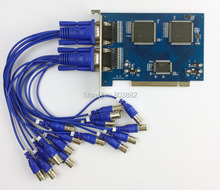 $ NUMBER CANALES CCTV Cámara de Captura de Vídeo DVR Tarjeta PCI 16CH D1 Soporte Técnico de Windows 7 64bit Con BNC DVR Tarjeta de Registro conector