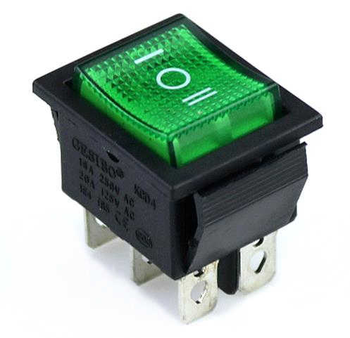 KCD4 الروك التبديل السلطة التبديل 2 موقف/3 موقف 6 دبابيس المعدات الكهربائية مع مفتاح الإضاءة 16A 250VAC/20A 125VAC 1 قطعة