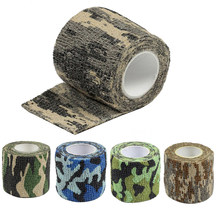 5 Color 4.5M*5M Tactical Camouflage 1 Roll Stretch Bandage Outdoor Hunting War Shooting Tape Gun Accessory Bicycle Decoration(China)