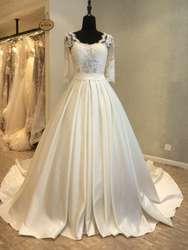 Винтажное свадебное платье 2019 свадебное платье с коротким рукавом Кружевное Свадебное платье gelinlik vestidos de novia vestido branco на заказ