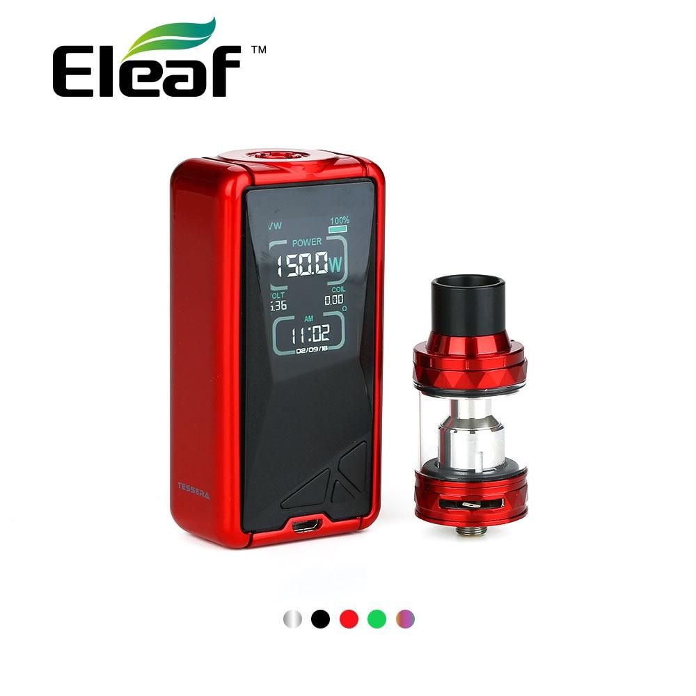 Originale 150 w Eleaf Tessera TC Kit W/2 ml/4 ml Ello TS Serbatoio Atomizzatore e 2A la Ricarica veloce e 3400 mah Batteria VS IStick Pico Vape