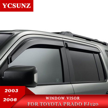 Car Accessories Window Visor Side Window Deflectors Rain Guards For Toyota Fj120 2003-2018