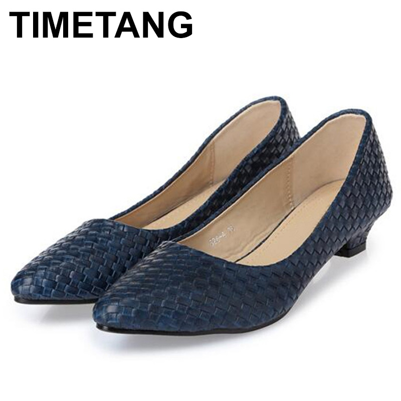 TIMETANG New fashion Office Lady low heels Shoes woman single pumps Women autumn spring workShoes pointed toe35-41black blueE564TIMETANG New fashion Office Lady low heels Shoes woman single pumps Women autumn spring workShoes pointed toe35-41black blueE564