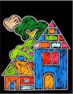 1 חבילה 8 גיליונות ציור ילדי ציור סט שריטה נייר צבעוני קסם שריטה אמנות ציור נייר עם ציור מקל YYY WYQ