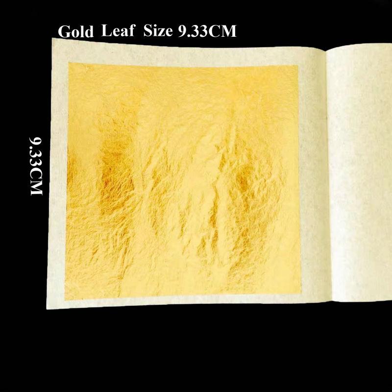 50 hojas 9,33x9,33 cm genuina 24K hoja de oro comestible comida decoración máscara de oro para cosmetología-in Papel para artesanías from Hogar y Mascotas    1