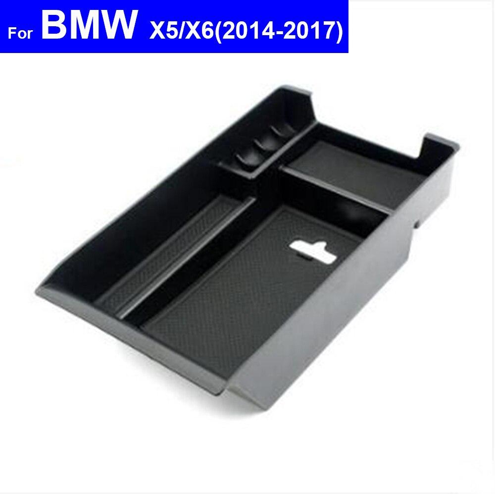 Car Center Console Armrest Box Secondary Storage Tray Glove Box for BMW X1 X3 X4 X5 X6 2011 2012 2013 2014 2015 2016 2017