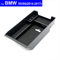 Car Center Console Armrest Box Secondary Storage Tray Glove Box for BMW X1 X3 X4 X5 X6 2011 2012 2013 2014 2015 2016 2017
